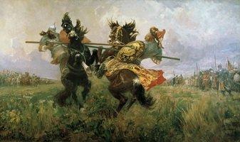 сражение богатырей перед куликовской битвой