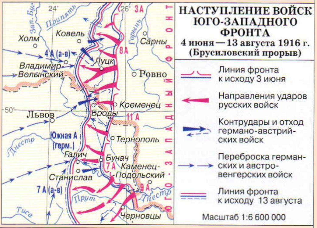 Реферат брусиловский прорыв 1916 7535
