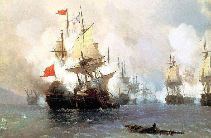 Битва флагманских кораблей при Чесмене