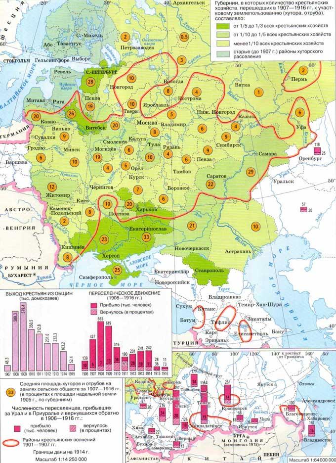 Карта аграрной реформы