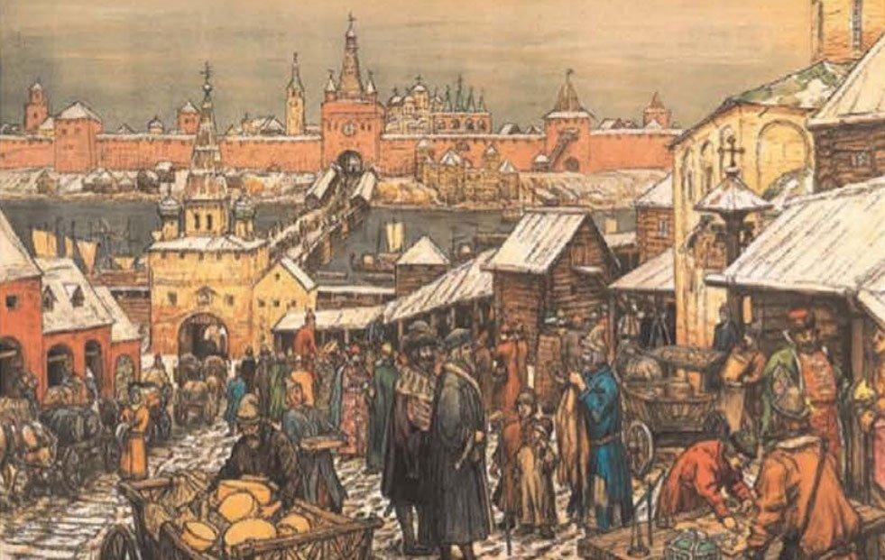 Новгородский торг - Васнецов