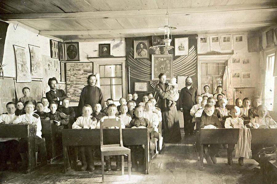первые школ в россии картинки фигуру